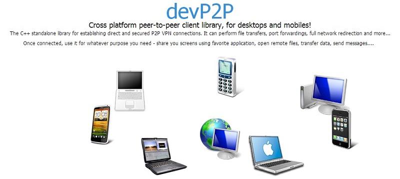 Cross platform peer-to-peer client library